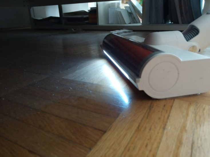 جاروبرقی شارژی بی سیم دستی شیائومی مدل ROIDMI F8 Roidmi F8 battery vacuum cleaner LED dark 734x550