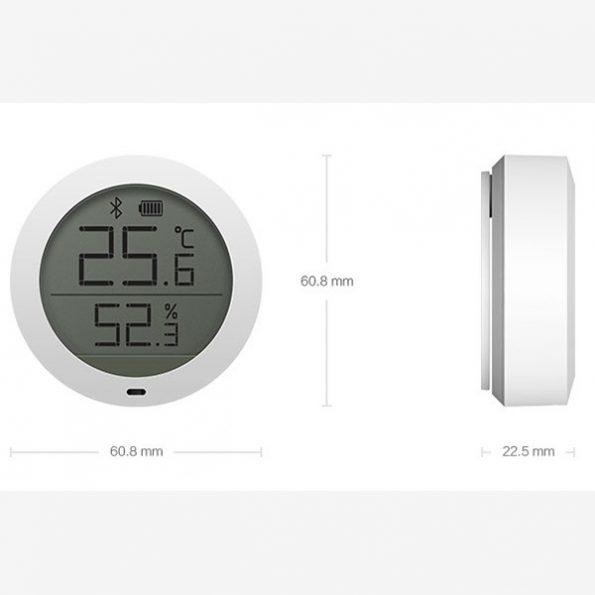 دماسنج و رطوبت سنج هوشمند شیائومی xiaomi mijia bluetooth temperature humidity sensor lcd screen digital thermometer 4 595x595